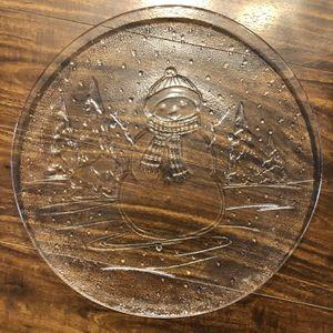 Snowman Platter / Plate for Sale in Everett, WA