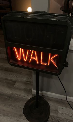 Vintage don't walk neon light up sign - heavy and the real deal! for Sale in Huntington Beach, CA