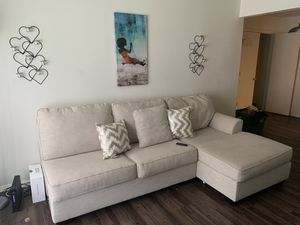 Sand color tan sectional for Sale in Yorktown, VA