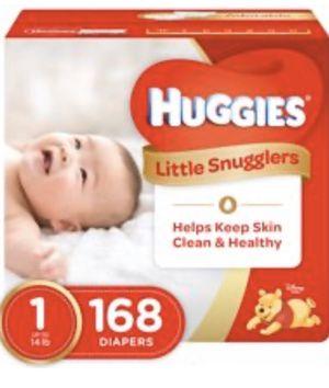 Huggies diapers size 1 for Sale in San Bernardino, CA