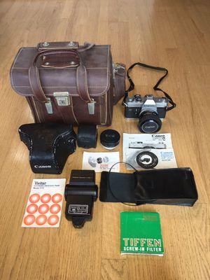 Canon FTB QL film camera with accessories for Sale in Puyallup, WA