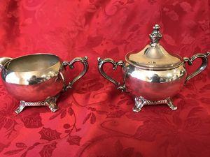 Silver creamer & sugar bowl for Sale in Jenks, OK