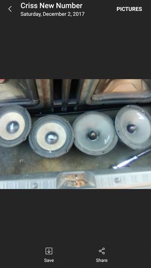 Prv and Audiopipe 6.5 voice speaker for Sale in Philadelphia, PA