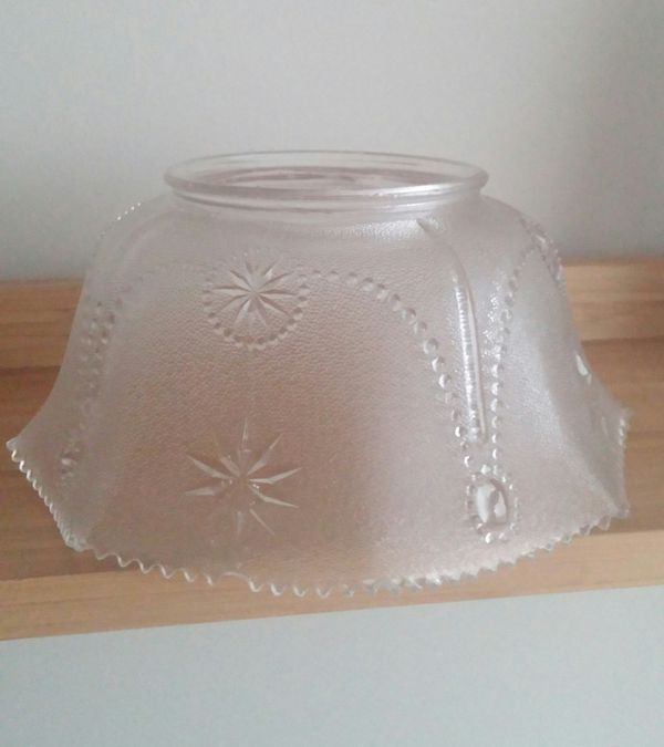 Older Unique Fluted Scalloped Edge Glass Shade