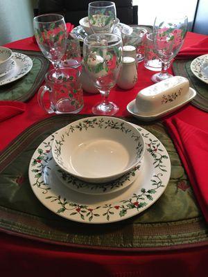 Stoneware/Glassware 4 piece place setting. New. Scottsdale for Sale in Scottsdale, AZ