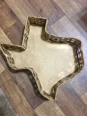 Texas Home Decor Gold Weaved Basket for Sale in San Antonio, TX