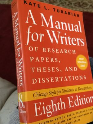 A Manual for Writers: Chicago Style for students and Researchers 8th Ed. for Sale in Wichita, KS