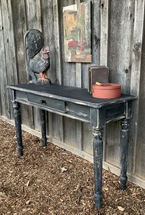 """""""Shabby Chic"""" Black and Charcoal Sofa Table with Center Drawer for Sale in Hillsboro, OR"""
