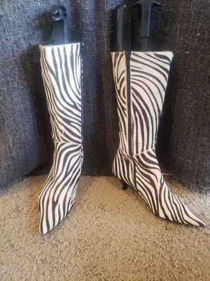 Like New Zebra Print Leather Boots for Sale in Keizer, OR