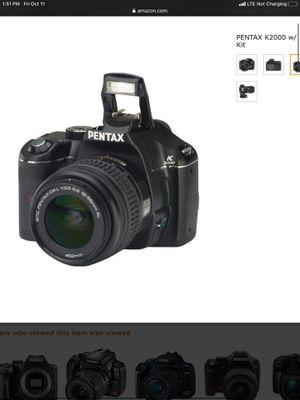 Pentak K2000 dslr camera w/ lens kit (50mm & 18-55mm lens) for Sale in San Diego, CA