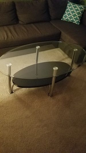 3 glass tables set good condition for Sale in Clifton, NJ