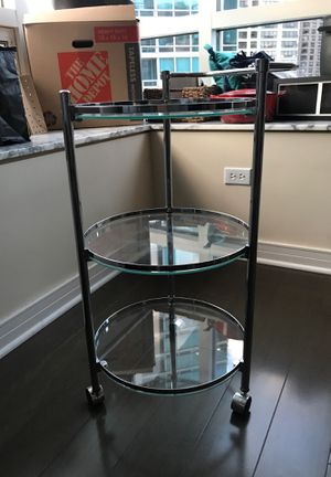 Glass Bar Cart - like New MUST GO for Sale in Chicago, IL