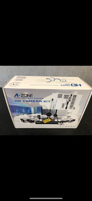 Brand New Security Camera System, A-ZONE 8 Channel NVR 4x1080P HD IP PoE Outdoor/Indoor 3.6mm Fixed Lens IP67 Waterproof Bullet Cameras with IR Night for Sale in Columbus, OH