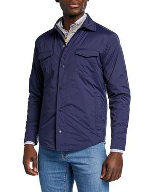 NEW peter millar men's springtime snap-front golf jacket navy MED for Sale in Miami, FL
