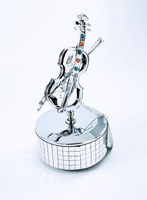 Gift for Her Violin Music Box Swarovski - Sweet16 - Quinceanera - Anniversary for Sale in Hanover, MD
