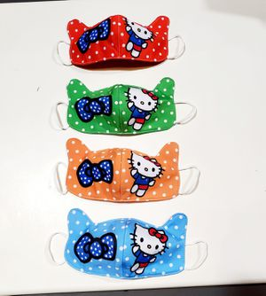 Kids face masks, washable, reusable, breathable, soft fabric, disney masks, elsa and anna masks, avengers mask, hello kitty mask. for Sale in Orlando, FL