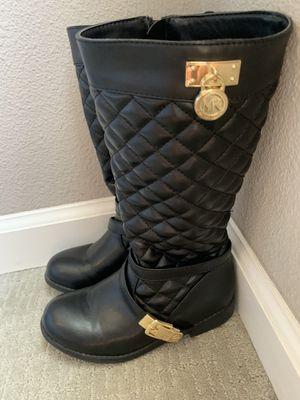 Michael Kor kids black boots size 13 for Sale in Palm Desert, CA