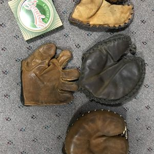 Vintage Baseball Gloves (40's - 50's) ( $125 for all four mitts ) for Sale in Morton Grove, IL