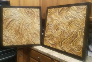 """Two patterned scrolled vine wall art - 28"""" x 28"""" for Sale in Tampa, FL"""