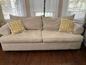 Used Raymour and Flanigan couch and chairs for Sale in Plainfield, NJ