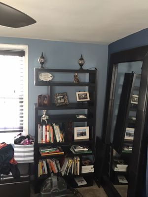 STANDING MIRROR AND BOOKCASE for Sale in Arlington, VA
