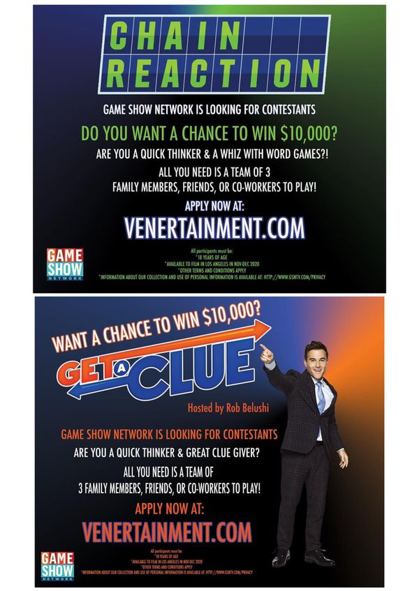 GAME SHOW CASTING SoCal LOCALS!