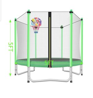 LOVELY SNAI TRAMPOLINE WITH BASKETBALL HOOP for Sale in Pembroke Pines, FL