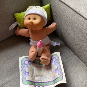 """Cabbage Patch Kid Vintage Doll 1978 2005 Preemie Bald Green Eyes 14"""" for Sale in Chula Vista, CA"""