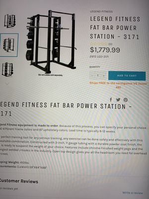 Legend Fat Bar Power Rack with many attachments, Bench , Preacher Curl, and bars for Sale in NEW PRT RCHY, FL