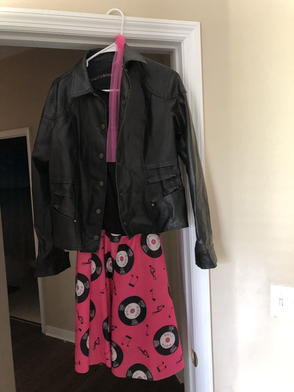 """Costume """"50s girl with leather jacket"""