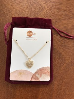 Gemelli Pave Heart Gold Necklace for Sale in Alexandria, VA