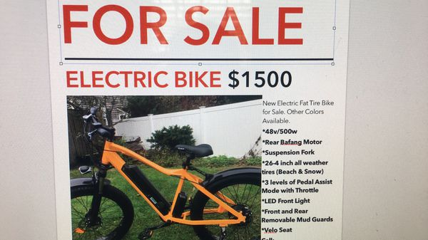 Electric Bicycles Fat Tire