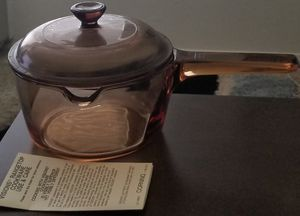 Pyrex Amber Glass Corning Visions Range Top Cookware Sauce Pan & Cover # V-1-C for Sale in Spring Valley, CA