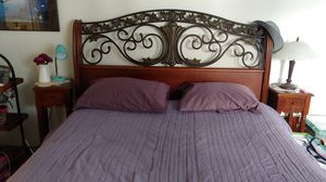 QUEEN SIZE BED FRAME WITH MATCHING CHEST for Sale in Santa Barbara, CA