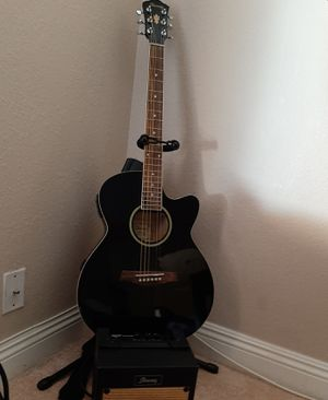 Ibanez guitar acoustic-electric w/amp, stand, case, humidifier for Sale in Las Vegas, NV