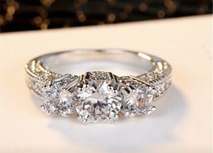 White Sapphire 925 Silver Wedding ring size 7 for Sale in Moreno Valley, CA