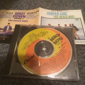 The Beach Boys CD Surfer Girl and Shut Down Vol.2 Fun Fun Fun, In My Room Don't Worry Baby for Sale in Cleveland, OH