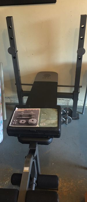 Golds gym weight bench w/ 30 lb dumbbell set for Sale in Virginia Beach, VA