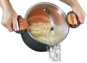 Gotham Steel 5 Qt. Non-Stick Ti-Ceramic Pasta Pot with Built-In Strainer and Twist N' Lock Handles for Sale in Dallas, TX