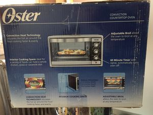Oster Convection Toaster Oven, 6 Slice, Brushed Stainless Steel (TSSTTVRB04 for Sale in Brooklyn, NY