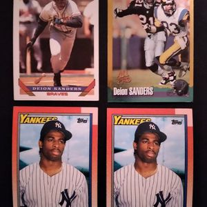 LOT OF 4 - Deion Sanders Cards - Football & Baseball for Sale in Chicago, IL
