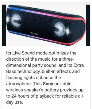 Sony xb-41 portable speaker for Sale in Pompano Beach, FL
