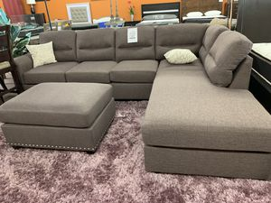 Beautiful Sectional with Ottoman @Elegant Furniture for Sale in Fresno, CA