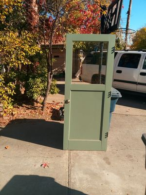 Green Garage Exterior Door with Glass for Sale in Citrus Heights, CA