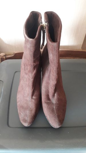Brown upper leather high heeled boots for Sale in East Wenatchee, WA