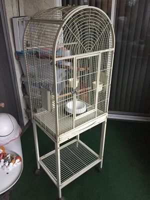 Bird cage. Big enough for a parrot. 64' high, 22' wife and 17' deep Top can separate from the base for easy transport. Includes two manzanita perch for Sale in Los Angeles, CA