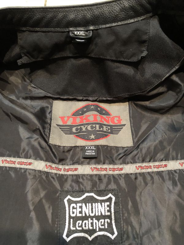 Viking Cycle leather motorcycle vest 3xL Like new