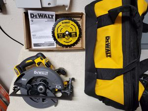 New DEWALT FLEXVOLT 60V MAX Circular Saw with Brake, 7-1/4-Inch & Bag for Sale in Vancouver, WA