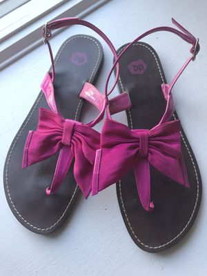 BP Hot Pink Bow Sandals, size 7 for Sale in Hackensack, NJ