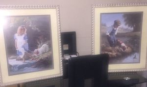 Home interiors boy & girl pictures set for Sale in Bell Gardens, CA